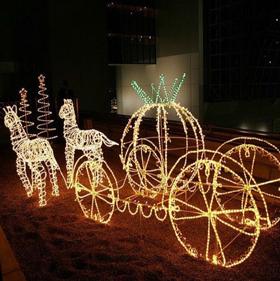 LEDイルミネーション馬車トナカイ