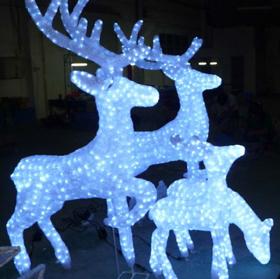 LED冬の飾りつけトナカイ